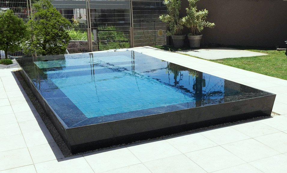 Piscina de concreto fiber for Projeto x piscina