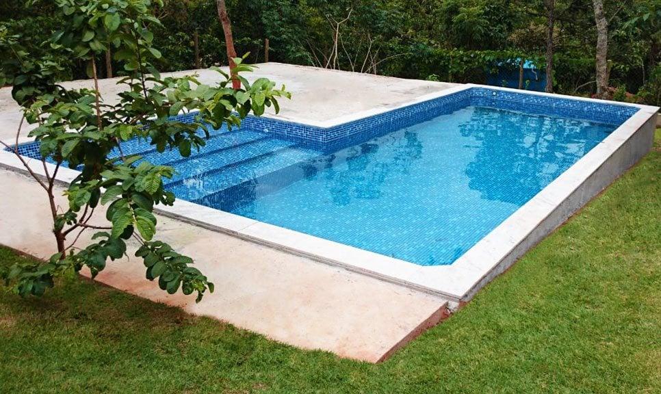 Piscina de vinil fiber for Modelos de piscinas medianas